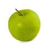 Apple vert sur le blanc Photos libres de droits