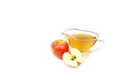 Apple vinäger som isoleras på vit bakgrund Royaltyfria Bilder