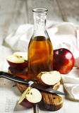 Apple vinegar. And fresh apple stock photo