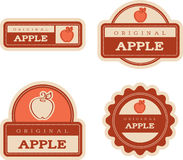 Apple Vintage Food Labels Stock Photos