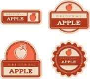 Apple Vintage Food Labels Stock Photos