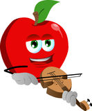 Apple with violin Royalty Free Stock Images