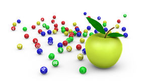 Apple and vitamins Royalty Free Stock Photo