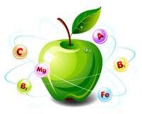 Apple vitamins Royalty Free Stock Photos