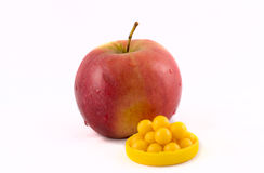 Apple and vitamins stock photo