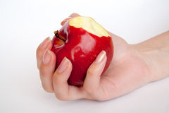 Apple w ręce Obrazy Stock