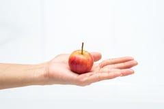 Apple w ręce Zdjęcie Stock