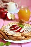Apple waffles. Stock Photos