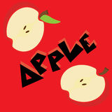 Apple wallpaper  illustration. Icons Stock Photography