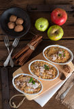 Apple Walnut streusel cake Royalty Free Stock Images