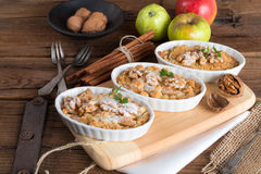 Apple Walnut streusel cake Royalty Free Stock Photos