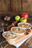 Apple Walnut streusel cake Stock Photography