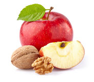 Apple with walnuts Royalty Free Stock Photos