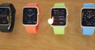 Apple Watch - buing and making order stock footage