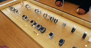 Apple Watch - buing and making order stock video footage