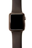 Apple Watch Sport. NEW YORK - JULY 9, 2015:  Apple Watch 42mm Space Gray Aluminum Case with Black Sport Band Stock Images
