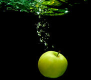 Apple and water Stock Image
