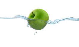 Apple in the water Stock Images