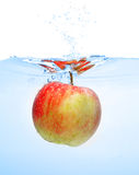 Apple in water Stock Images