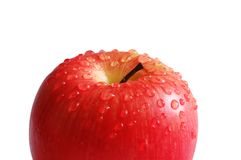 Apple with water drops isolate Stock Photography