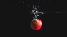 Apple in the water Royalty Free Stock Photos