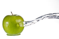 Apple water splash Royalty Free Stock Photo