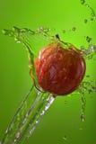 Apple water splash diet health lifestyle Stock Image
