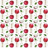 Apple watercolor pattern vector illustration