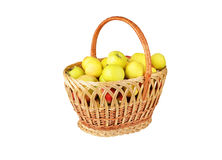 Apple in a wattled basket Royalty Free Stock Images
