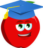 Apple wearing graduation cap Royalty Free Stock Photography