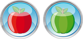 Apple web button Stock Photography