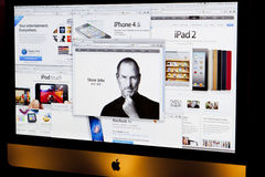 Apple Website Tribute to Steve Jobs Stock Photography