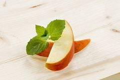 Apple wedges Stock Photography