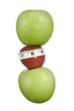 Apple weightloss Royalty Free Stock Images
