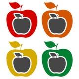 Apple - wektorowe ikony ustawiać ilustracji
