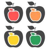 Apple - wektorowe ikony ustawiać royalty ilustracja