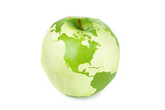 Apple-Weltkarte Lizenzfreie Stockfotos