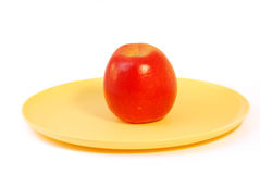 Apple on a white background Royalty Free Stock Image