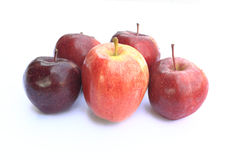 Apple on white background. Different shade apples on white background Stock Photo