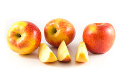 Apple. On the white background Stock Photography