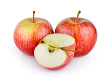 Apple on white background Stock Images