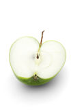 Apple on white background - close-up Stock Photos