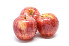 Apple white background closeup detail. Isolated Royalty Free Stock Photo