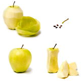 Apple on a white background. Green apple on a white background Royalty Free Stock Image