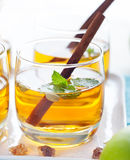 Apple, white wine punch, tea, mulled cider Royalty Free Stock Image