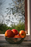 Apple window Royalty Free Stock Photography