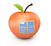 Apple with window Stock Photos