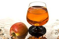 Apple and wine Stock Photo