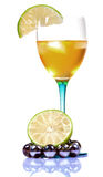 Apple wine with lemon Royalty Free Stock Photo