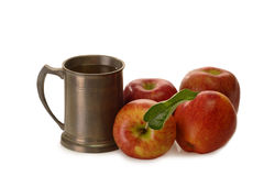 Apple Wine in a Tankard Stock Images